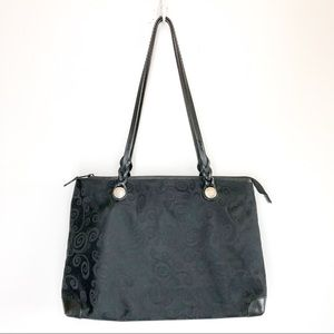 Brighton Black Signature Vine Shoulder Tote Bag